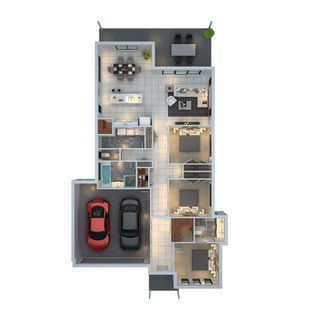 3D floor plan unit2 for a building company - Mudgee NSW