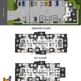 2D colour floor plan and site plans for a development project - Alderly QLD