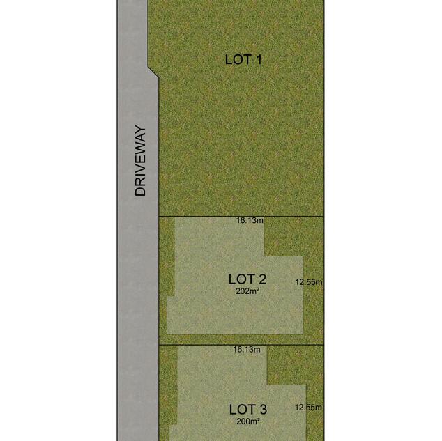 2d colour block site plan