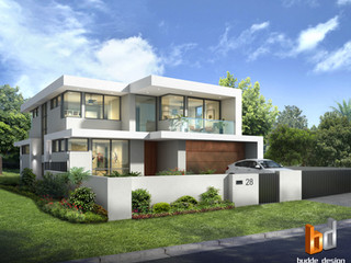 3D external front facade render - Kyle Bay NSW