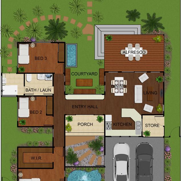 2D colour floor plan - Zuccoli Darwin NT