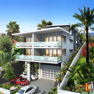 3D external Architectural visualisation for a development project - Clayfield QLD