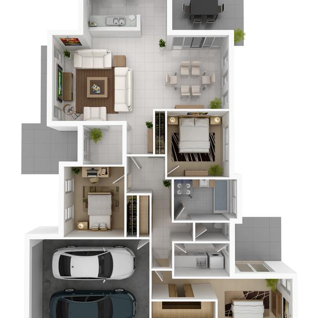 3D floor plan for marketing - Mudgee NSW