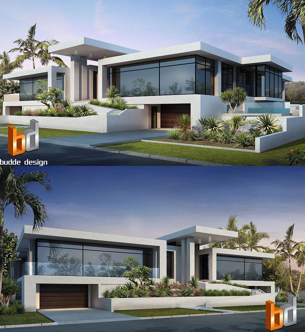 3D Rendering front facade Anglers Esplanade, Runaway Bay, 3d rendering Gold Coast QLD