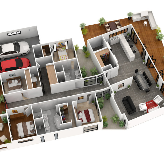 3D Floor Plan for Autorealty & Dreamsmart Display Home - Whyalla SA