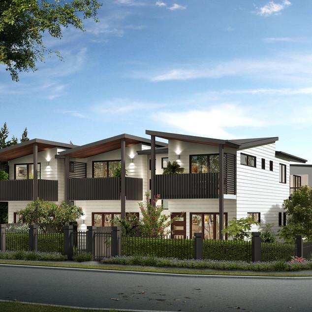 3D Exterenal Render for a property developer - 14 appartment development Yeronga QLD