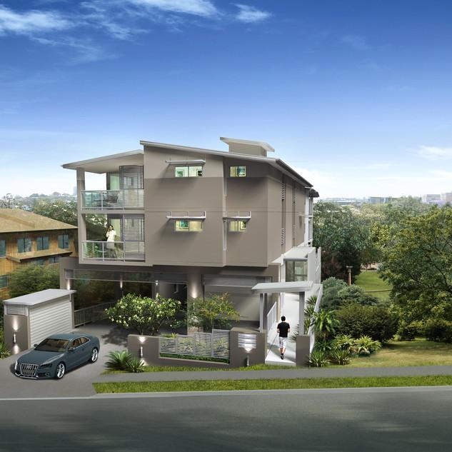 3D Artist Impression for a unit development project - St Lucia QLD