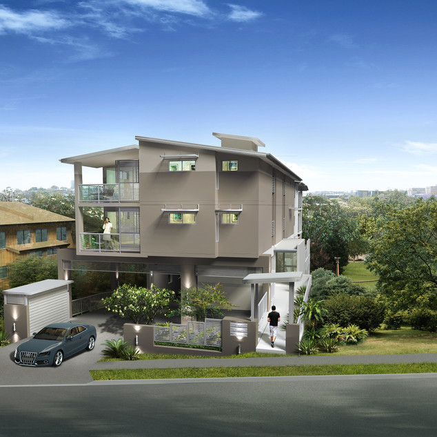 3D Artist Impression for a unit development project - St Lucia QLD