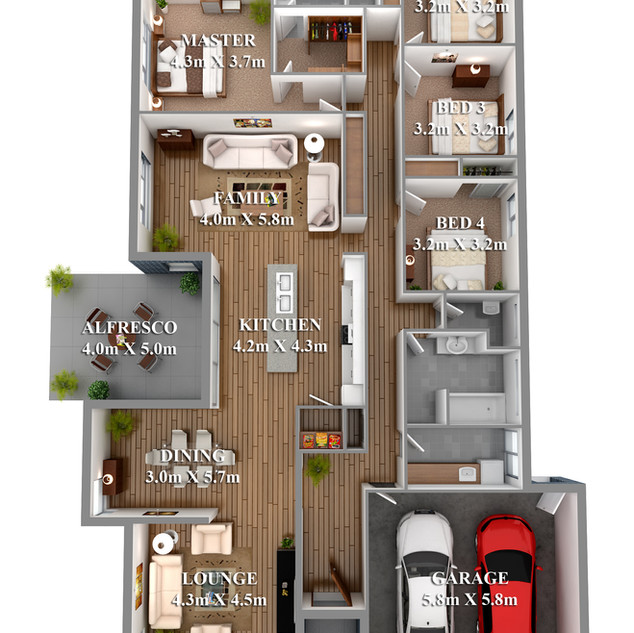 3D floor plan for real estate marketing - Mudgee NSW