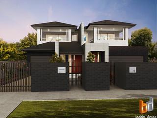 3D External Render duplex townhouse development - Strathmore Victoria