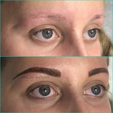 Combination eyebrow tattoo