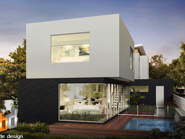 3D external Artist Impression, 3 Bedroom 2 level townhouse - Strathmore Victoria