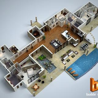 3D floor plan - Hawaii