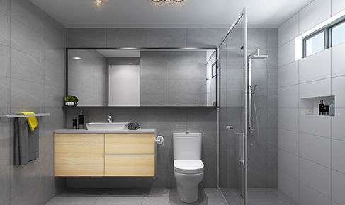 3D bathroom marketing render internal render