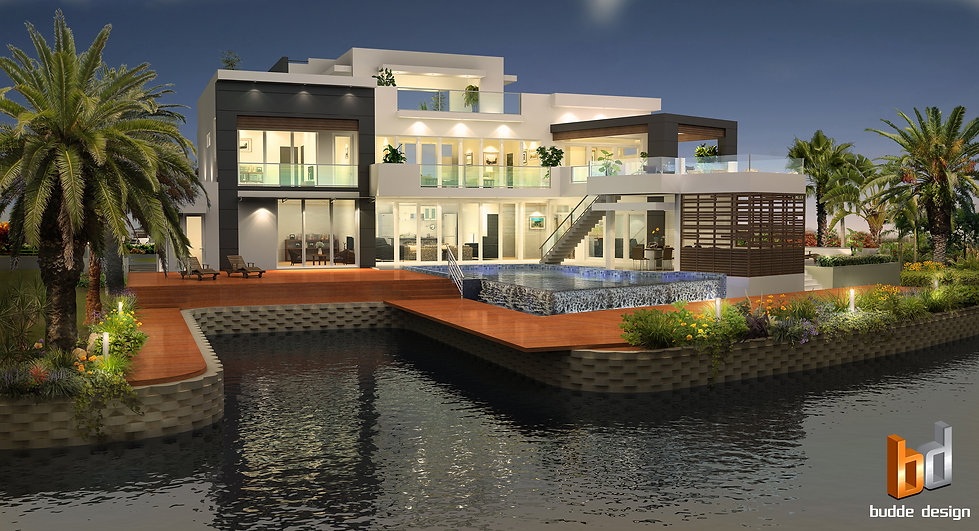 3D Rendering Grand Cayman Islands luxury custom design. The designer of the project is a leading architect in the Cayman Island. Artist Impression produced to showcase the design to the client.