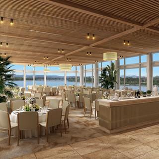Wedding Venue Regatta Point Canberra ACT 3D Internal Render Marion Reception Dining Area