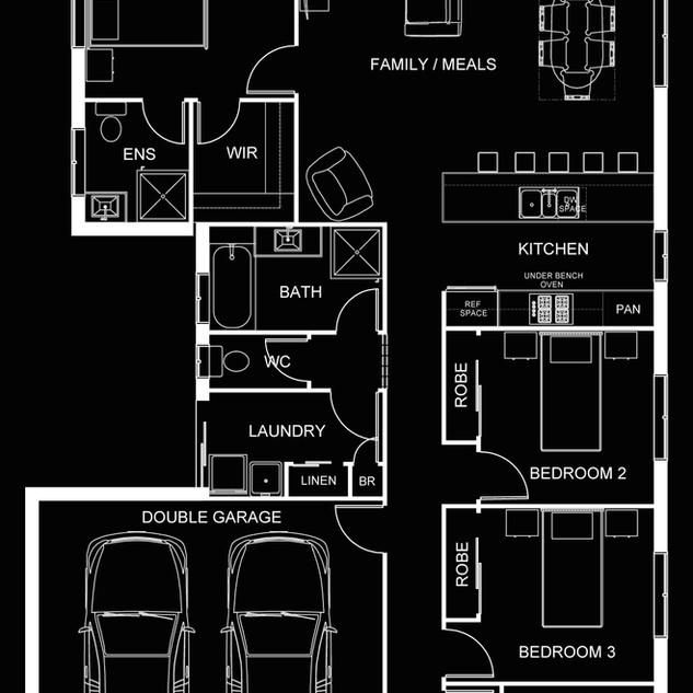 Professional 2D Floor Plan for Marketing - White