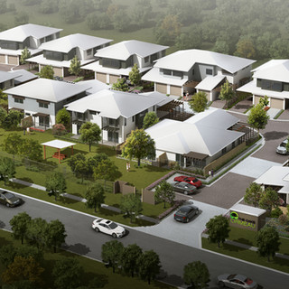 3D external birds eye view render for a development project - Ormeau Oaks, Ormeau Hills QLD