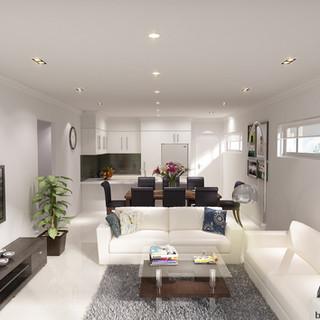 3D internal living room render - Spearwood WA