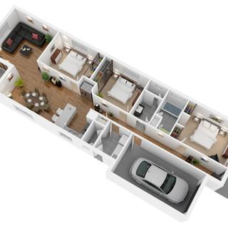 3D Floor plan for a building company - Spencer Gulf SA