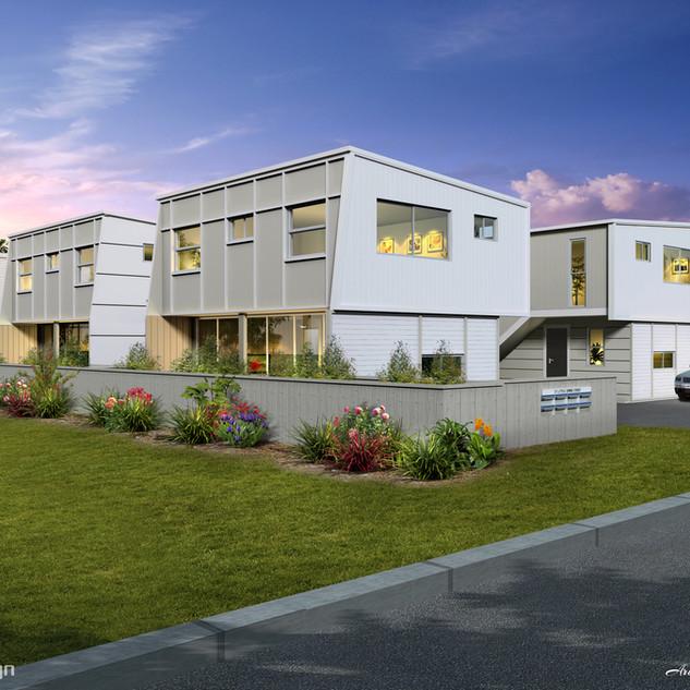 3D external Artist Impression for a 6 townhouse development - Nundah QLD