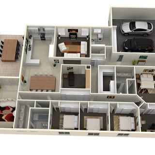 3D floor plan of clients design - Horsham Vic