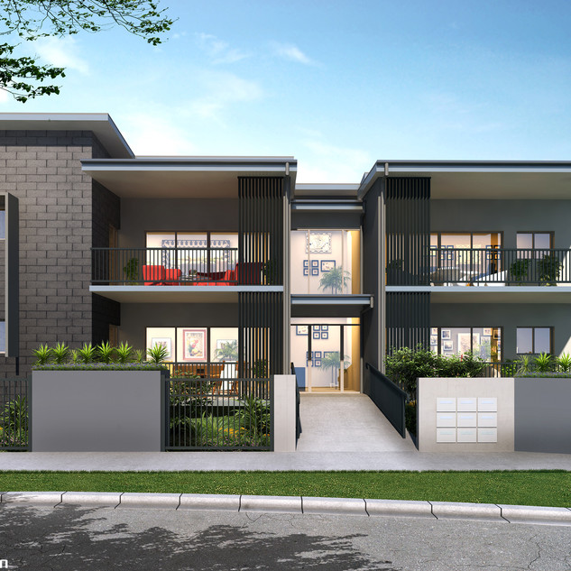 3D external render for a development project - Moorooka QLD