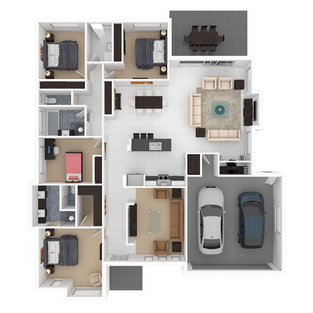 3D floor plan for a building company - Mudgee NSW