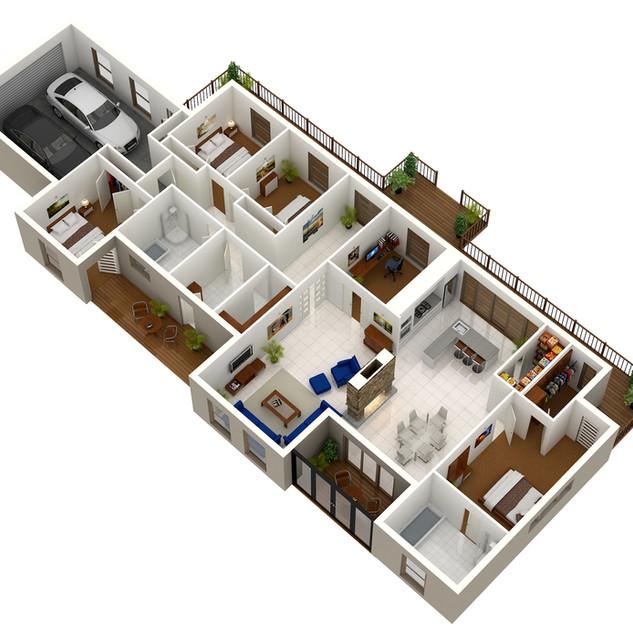 3D floor plan of clients design & colour selection - NSW