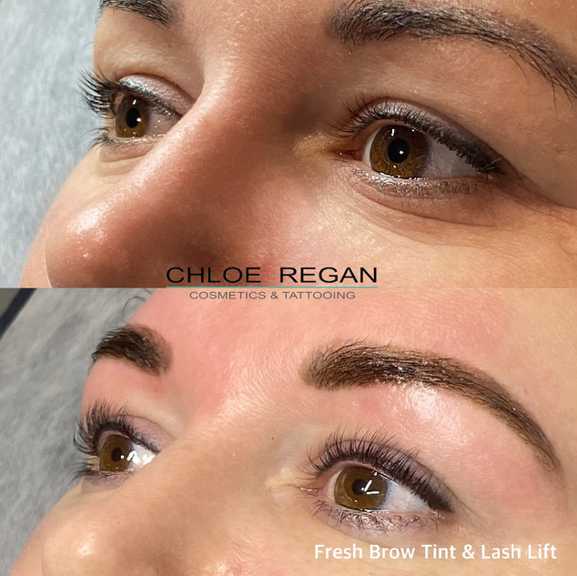 Brow tint and Lash lift