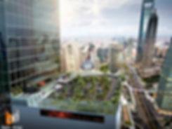 3D Artist Impression rooftop go cart trackconcept