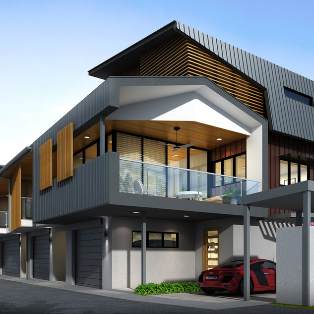 3D Rendering multi unit development - Balmoral, Brisbane QLD