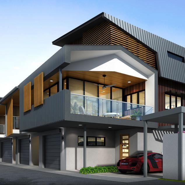 3D Rendering multi unit development - Balmoral, Brisbane QLD