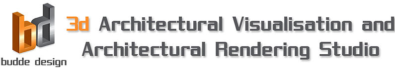 Budde Design logo - 3D archiectual visualiation and Architectural Renering Studio