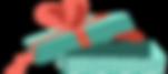赤いリボン付きオープンギフトボックス