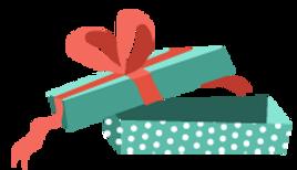 Apri regalo con il nastro rosso