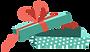 Öffnen Sie Geschenk-Box mit roter Schlei