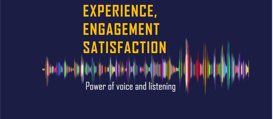 Satisfaction, Engagement, Experience ?!!!