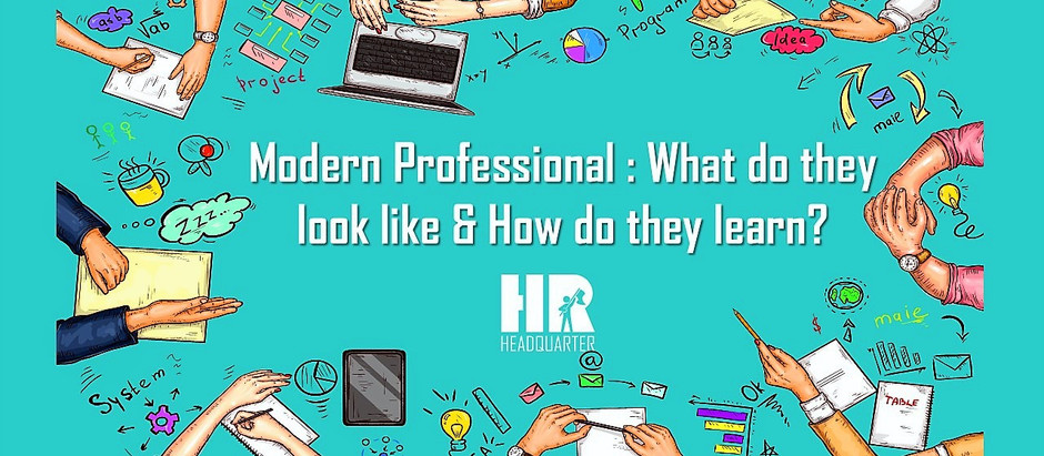 Modern Professional: what do they look like & how do they learn