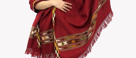 Kullu Pure Wool Shawl (Saffron)