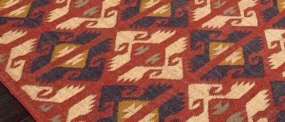 Rajasthani hand woven tribal rug for aesthetic homes