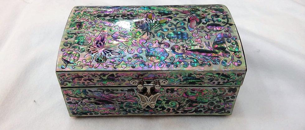Korean Mother of pearl Jewelry box | Flowers & Butterflies patterned