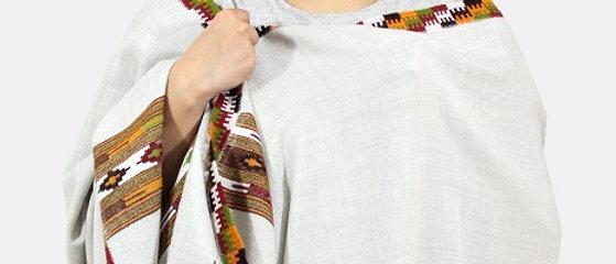 Kullu Pure Wool Shawl (Paper Ash)