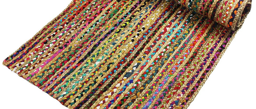Hand braided cotton and jute eco friendly mats