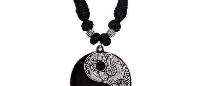 Bidriware Silver Inlay Pendant – Yin Yang