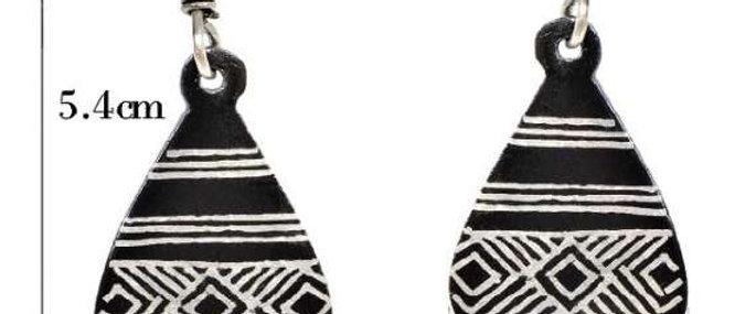 Bidriware Silver Inlay Ethnic Earring