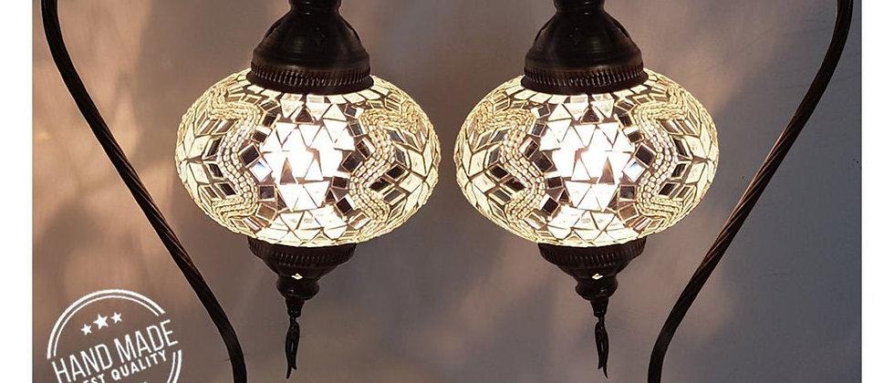 2 Turkish Lamp, Turkish Desk Lamp, Mosaic Lamps - Turkish Desk Lamp with a Big S