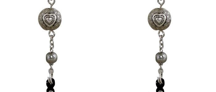 Bidriware Silver Inlay Conch Earring
