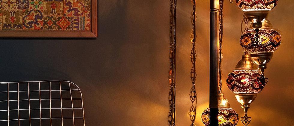 Turkish Lamp, Express Shipping Offer, 9 Globe Mosaic Lamp