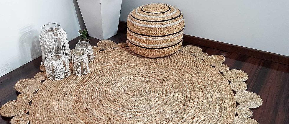 Round Jute Carpet | Hand Braided | Native Rajasthan